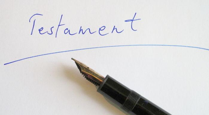 Testament handschriftlich