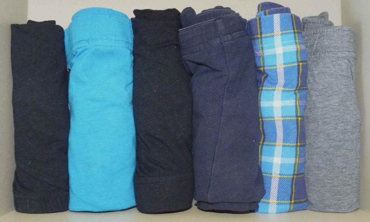 Kleiderschrank aufräumen unterwäsche